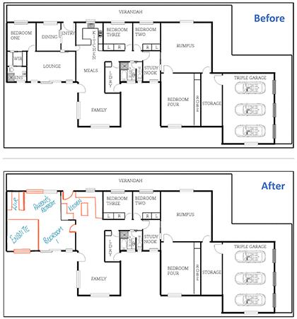 1. Bungendore Floor Plan – Before _ After