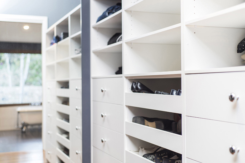 Other 4 – Walk in robe also includes plenty of drawers, open shelves _ roll out drawers for shoes